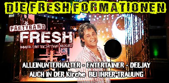 Fresh Partyband Hochzeitsband Alleinunterhalter Duo Trio im Raum Franken und Bayern, Hessen, Thüringen